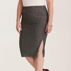 torrid | NWT glitter ribbed knit pencil skirt